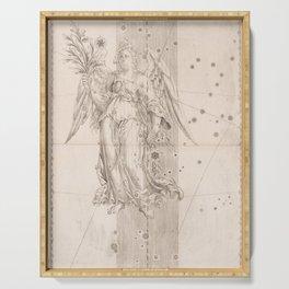 Johann Bayer - Uranometria / Measuring the Heavens (1661) - 25 Virgo Serving Tray