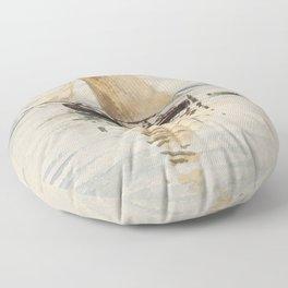 """Egon Schiele """"Segelschiff mit Spiegelungen (Sailing ship with reflection)"""" Floor Pillow"""
