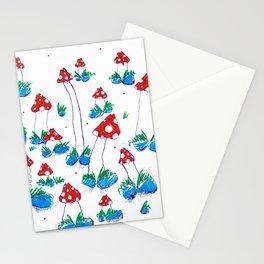Crazy Xmas Mushrooms - Christmas Gift Idea Stationery Cards