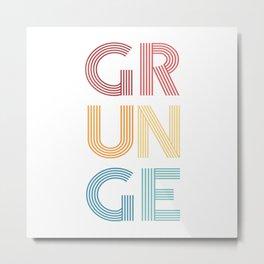 Grunge  TShirt Music Shirt Instrument Gift Idea Metal Print