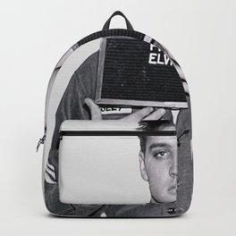 Elvis Presley Mugshot, Wall Art, Gift for Him, Cool, Retro, Vintage Print, Backpack