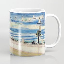 Seated Woman, Back Turned to the Open Window of Ocean & Seaside by Henri Matisse Coffee Mug