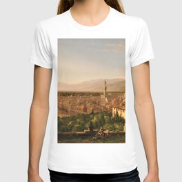 View of the Duomo and Florence, Italy by Thomas Cole T-shirt