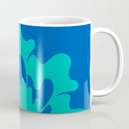 Blue green spiral floral  Coffee Mug