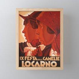 billboard locarno festa delle camelie 1932 fleur Framed Mini Art Print