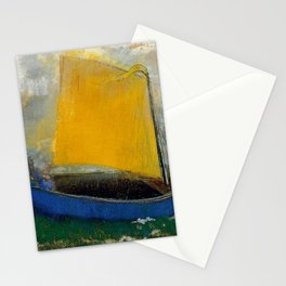 "Odilon Redon ""La Barque Mystique"" Stationery Cards"
