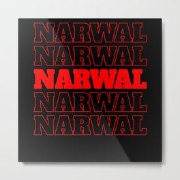 narwhal, narwhal animal, narwhal narwhal horn Metal Print