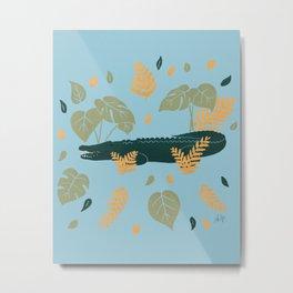 Krokodil Metal Print