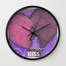 The First Kiss Wall Clock