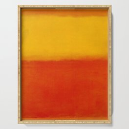 1956 Orange and Yellow by Mark Rothko HD Serving Tray