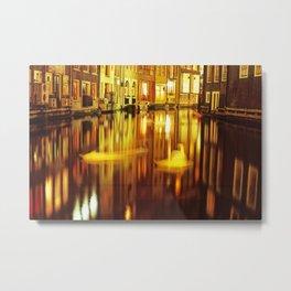 swan in amsterdam Metal Print