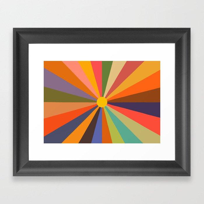 Sun - Soleil Gerahmter Kunstdruck