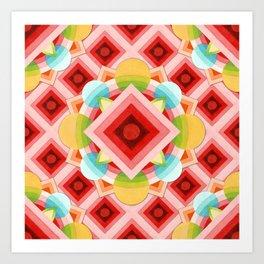 Circus Geometric Art Print