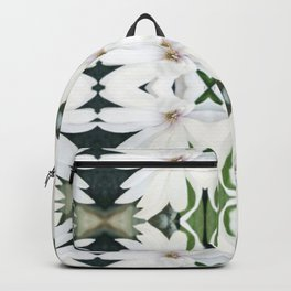 Art Nouveau White Flower Backpack