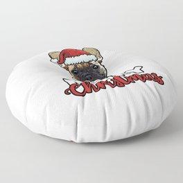 Merry Christmas French Bulldog Dog Lover Gift Floor Pillow
