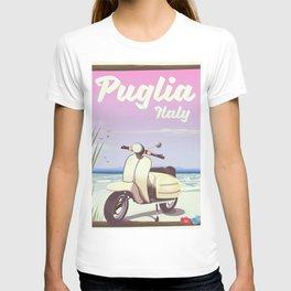Puglia, Italy Beach travel poster T-shirt