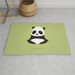 Mindful panda levitating Rug