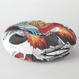 Highboy Hotrod Dragster Car Cartoon Floor Pillow