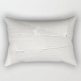 Relief [1]: an abstract, textured piece in white by Alyssa Hamilton Art Rectangular Pillow