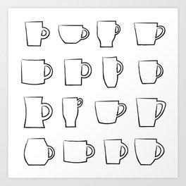 Mug Assortment Art Print