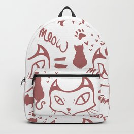 meow meow meow red Backpack