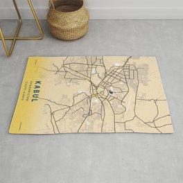 Kabul Yellow City Map Rug