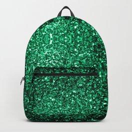 Beautiful Emerald Green glitter sparkles Backpack