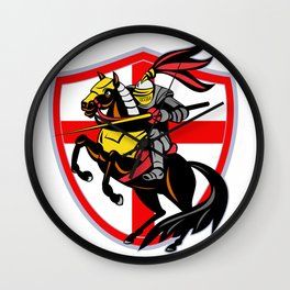 Medieval Knight Crest Jousting Shield Sigil Wall Clock
