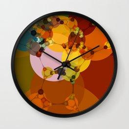 joni - bright abstract design vivid jewel tones red green orange Wall Clock