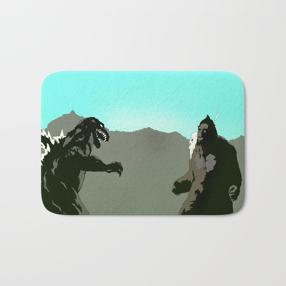 King Kong Vs Godzilla Bath Mat by 100rings BMT6551427