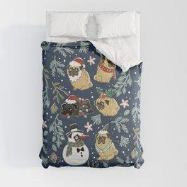 Christmas Pugs Comforters