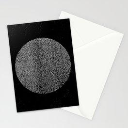 Mid Century Modern Art, Abstract Linoleum, Moon Print, Minimalist Stationery Cards
