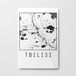 Tbilisi, Georgia, city map Metal Print