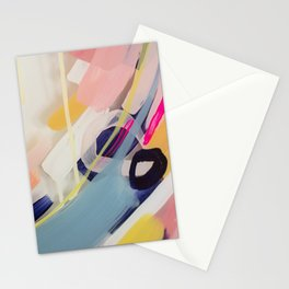 Those summer Days #1 Abstract on perspex by Jen Sievers Stationery Cards