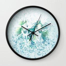 Two Arabian Horses in Watercolor Wall Clock