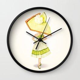 Cake Head Pin-Up: Key Lime Pie Wall Clock