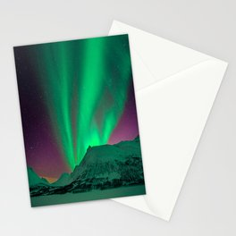 Northern Light Aurora Borealis in Norway Stationery Cards