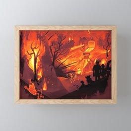 Firepit Framed Mini Art Print