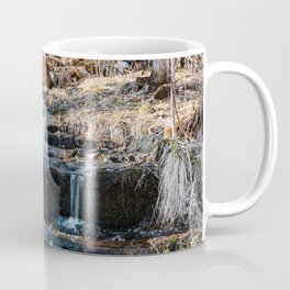 Waterfall in Spring   Minnesota Landscape and Nature Photography   Long Exposure Coffee Mug