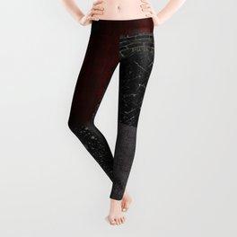 Patchwork (Burgundy + Black) Leggings