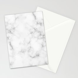 The Perfect Classic White with Grey Veins Marble Stationery Cards