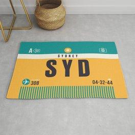Baggage Tag A - SYD Sydney Australia Rug