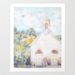 Church On The Ridge Art Print