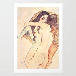 """Egon Schiele """"Two women embracing"""" Kunstdrucke"""
