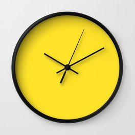 Simply Solid - Butter Yellow Wall Clock