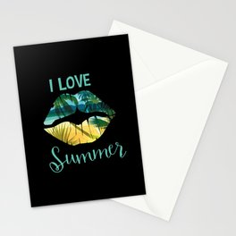I Love Summer Muah Stationery Cards
