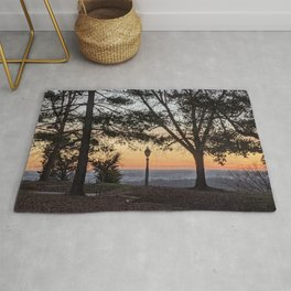 Sunset with lamp post  Rug
