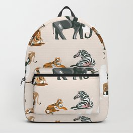 African Planes Pattern Backpack