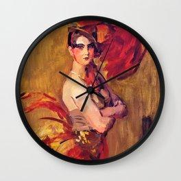 Isaac Lazarus Israels - Show-girl, La Cocotte, At Scala Theatre, The Hague Wall Clock