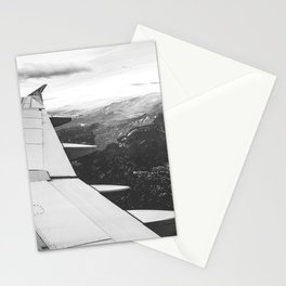 Mountain State // Colorado Rocky Mountains off the Wing of an Airplane Landscape Photo Stationery Cards